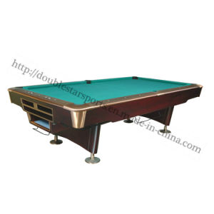 Standard Solid Wood Slate Billiard Pool Table with Autoball Return System pictures & photos