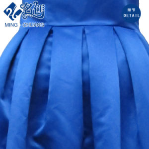 Blue Slimmering-Waist Pleated Waistband Sexy Ladies Fashion Long Party Dress pictures & photos