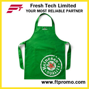 100% Polyester/Cotton High Quality Custom Printed Promotional Kitchen Bib Apron pictures & photos