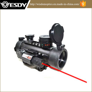 Esdy 1X30 Red&Green DOT Sight Airsoft Rifle Scope with Red Laser Sight pictures & photos