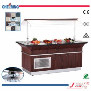 Opening Marble and Wood Refrigerated Salad Bar pictures & photos
