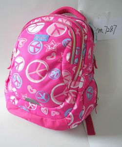 Travel/Outdoor/School Canvas Backpack Bags with Printing Geometry Design for Women/Girls pictures & photos
