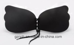 Women Self Adhesive Strapless Bandage Stick Gel Silicone Push up Invisible Bra pictures & photos