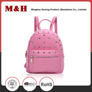 Willow Nail Designer PU Leather Ladies Satchel Bag Backpack pictures & photos