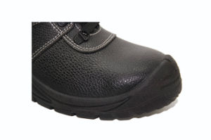 High Quality Middle Cut Work Shoes with Steel Toe Cap pictures & photos