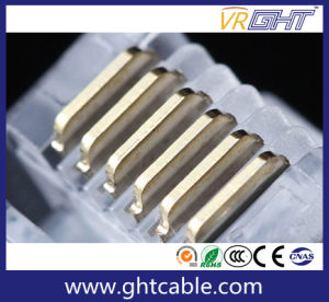 Gold-Plated Network Crystal Head/Rj12 Connectors/6p6c Plug pictures & photos