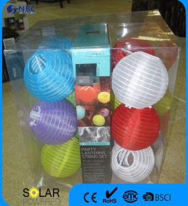 Set of 10 Solar Lanterns Colorful Party Lanterns String Set for Yard pictures & photos