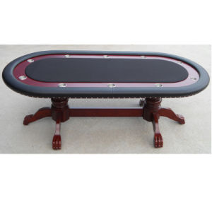 Luxury Poker Table with Wooden Leg