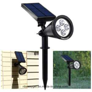 Upgraded Solar Lights Waterproof Outdoor Landscape Lighting Spotlight Wall Light Auto on/off for Yard Garden Driveway Pathway Pool (Warm White Light) pictures & photos