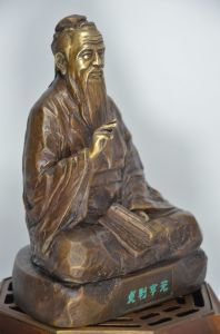 Fengshui Kongzi Bronze Sculpture pictures & photos