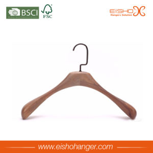 Natural Shape Solid Wooden Coat Hanger with Wide Shoulder pictures & photos