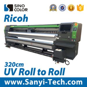Wide Format Priner Roll to Roll UV Printer Sinocolor Ruv-3204 for Indoor pictures & photos