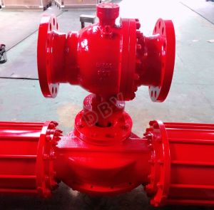 Pneumatic Pn63 Casting Steel Wcb RF Lcb Flanged Ball Valve