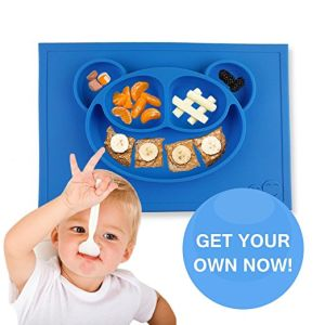 Round Children Silicone Suction Frog Place Mat pictures & photos