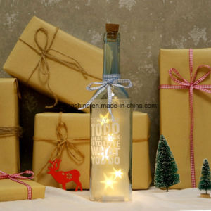 Friends Family Starlight AA Battery Warm White Light up Bottle Christmas Birthday Gift Work Mate pictures & photos
