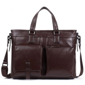Luxurious New Design Genuine Leather Computer Messenger Bag pictures & photos
