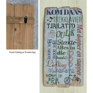 European Style Home Decor Wall Art Wooden Signs pictures & photos