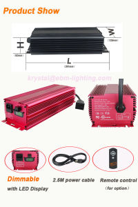 Hydroponic 1000W 860W 600W Dimming Mh/HPS Electronic Ballast for Greenhouse pictures & photos