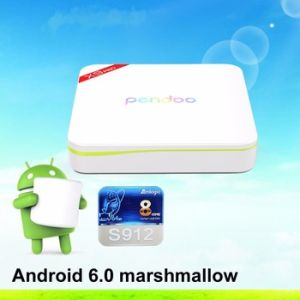 Android 6.0 TV Box Amlogic S912 Kodi 17.0 TV Box Pendoo X9 PRO Octa Core Set Top Box pictures & photos