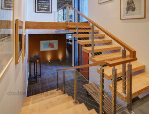 Wire Railing Stainless Steel Balustrade for Wood Staircase pictures & photos