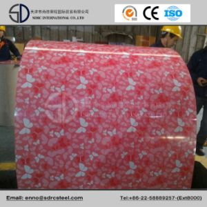 Flower Designed Prepainted Galvanized Steel Coil Grain PPGI pictures & photos