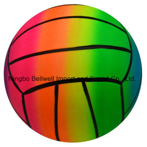 6 Inch Rainbow Inflatable PVC Playground Volleyball pictures & photos