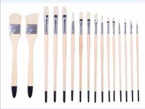 High Quality 2296 Art Brushes Set Bristle Hair Wooden Handle Watercolor Painting Artist Brush pictures & photos