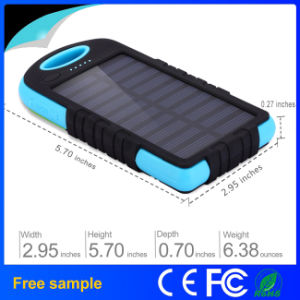 Mini Waterproof 5000mAh Solar Power Bank pictures & photos
