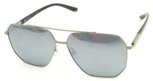 FM171280 New Design Good Quality Big Frame Mirror Nylon Lens Metal Sunglasses pictures & photos