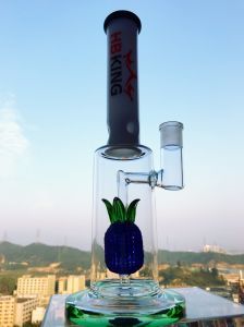 14 Inch Glass Water Pipe with Pineapple Colorful Perc pictures & photos