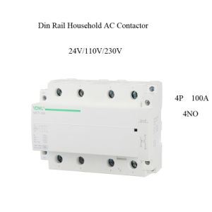 4p 100A Ict Household Modular DIN Rail AC Contactor pictures & photos