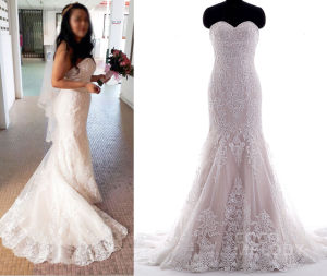2017 Tailor Made Idea Real Bride Wedding Dress pictures & photos