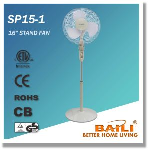 """Popular 16"""" Oscillating Stand Fan with Wheel Design Speed Control pictures & photos"""