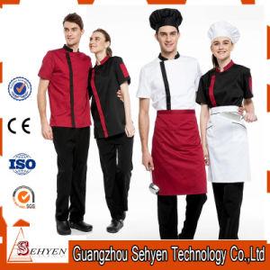 100% Cotton Men′s Fashion Chef Coat Uniform pictures & photos