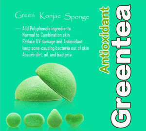 100% Pure Konjac Sponge Green Tea Konjac Sponge Bamboo Konjac Sponge pictures & photos