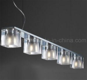 Modern GU10 Steel Icefire Ice Cube Crystal Diamond LED Pendant Lamp