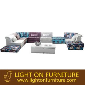 Classical Design Living Room Fabric Sectional Sofa (F895) pictures & photos