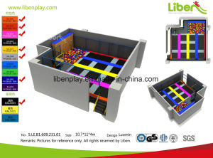 Best Selling Indoor Trampoline Park with Basketball Hoop pictures & photos