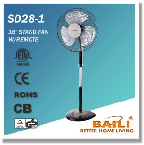 "Good Quality 16"" Oscillating Cooling Pedestal Fan with Remote Control pictures & photos"