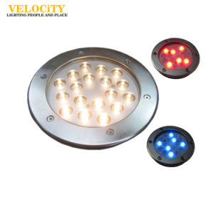 Landscaping 12W/24W IP68 RGB High Quality Resin Enclosed LED Underwater Light pictures & photos