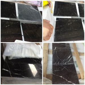 Wholesale Chinese Stone Tiles St Laurent Black Gold Marble pictures & photos