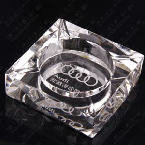 Clear Octagon Crystal Glass Cigar Ashtray for Office Decoration pictures & photos