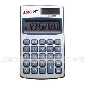 12 Digits Dual Power Handheld Pocket Calculator with Optional Wallet (LC328A)
