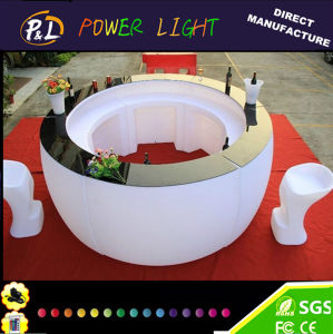 Lounge Furniture Plastic Color Changing Rechargeable LED Curved Bar pictures & photos