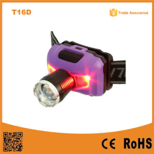 T16D Powerful XPE LED+ 2red SMD Telescopic LED Headlamp AAA Battery pictures & photos
