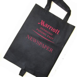 Non-Woven Newspaper Bag with Print Logo pictures & photos