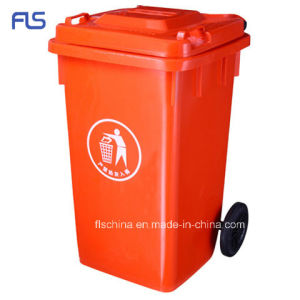 100L Outdoor Plastic Mobile Garbage Bin with Competitive Price (FLS-100L/HDPE/EN840) pictures & photos