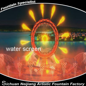 Water Screen Laser and Fire Water Fountain