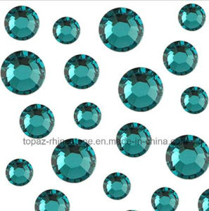 Ss10 Ss12 Ss16 Nail Art Rhinestone Round Flat Back Crystals (FB-blue zircon) pictures & photos