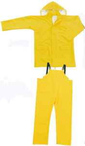 Custom Functional PVC/Polyester Waterproof Rainsuit with Hooded pictures & photos